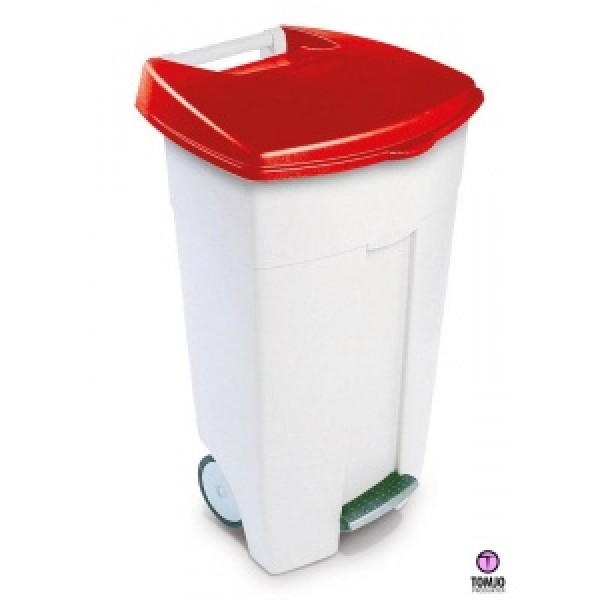 ECO Step-On Bin 106 liter Röd