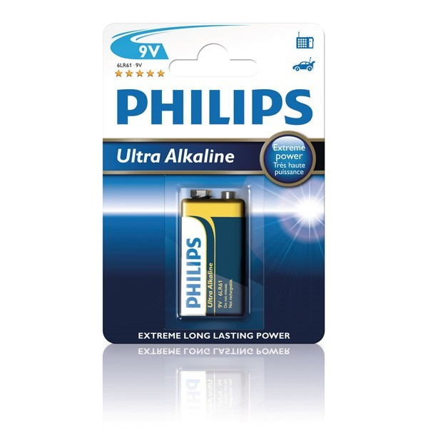 Batteri 9V 6LR61 Philips